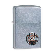 Isqueiro Zippo 29872 Classic Cromado Zippo Button Logo Street -
