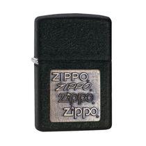 Isqueiro Zippo 362 Classic Gold Zippo Logo Black Crackle -
