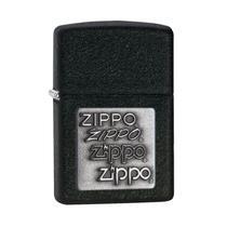 Isqueiro Zippo 363 Classic Silver Zippo Logo Black Crackle -