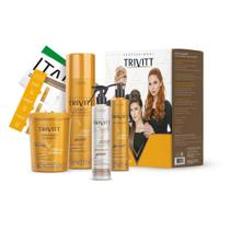Itallian Kit Profissional Sh.1L, Hidrat.Intens.1Kg Cauterização e Segredo Trivitt -