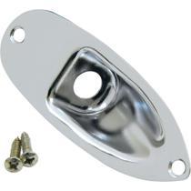 Jack Plate Fender p/ Stratocaster Chrome -