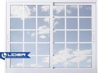 Janela Branca 100x100 com Grade Vidro Reflex - Líder - Líder Esquadrias