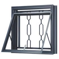 Janela Maxim-ar Aço sem Vidro 0,50 x 0,50 x 0,14  com Grade Elo - Metalúrgica Batalhão
