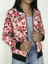 Jaqueta Bomber Florida Floral Flores Feminina Estampada Moda - Rsl