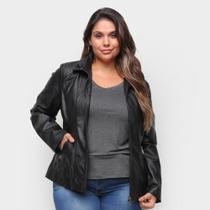 Jaqueta City Lady Plus Size PU Feminina -