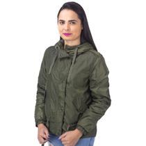 Jaqueta Corta Vento com Capuz Facinelli Verde -
