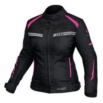 Jaqueta Feminina X11 One 2 Moto Impermeável Proteção Rosa -
