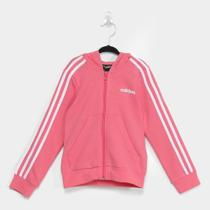 Jaqueta Infantil Adidas Capuz 3 Stripes Feminina -