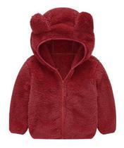Jaqueta Infantil Menino Urso Inverno Fleece Plush Inverno - Anjo Da Mamãe