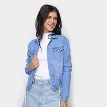 Jaqueta Jeans Cambos Amarração Feminina -