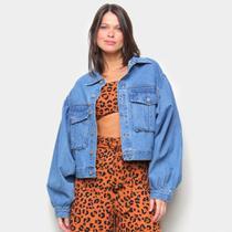 Jaqueta Jeans Farm Maxi Feminina -