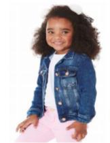 Jaqueta jeans infantil menina - azul tamanho 2 anos - Jeito De Criança