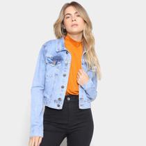 Jaqueta Jeans Just Denim Lavagem Média Feminina -