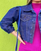 Jaqueta jeans manga bufanta- M - Santali