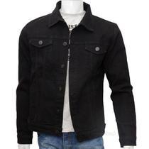 Jaqueta Jeans Masculina Preto  Premium Fit Alto Padrão - Tlt