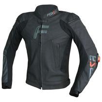 Jaqueta masculina couro Forza Mugello Racing black -