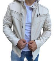 Jaqueta Masculina Forrada Motoqueiro Inverno - GG (branca) - Propria