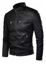 Jaqueta Masculina Forrada Motoqueiro Inverno - M (preta) - Propria