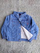 Jaqueta masculina jeans baby pelinho bebe tam 2 - D'Menor