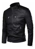 Jaqueta Masculina Moto Moderna Couro Ecologico Black Friday-GG - Fabricação Propria