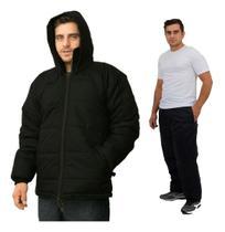 Jaqueta Masculino Impermeável + Calça Impermeável Frio Intenso, Neve - Black Sand