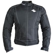 Jaqueta Motociclista Impermeável com Proteções ALL BLACK - Racing Rabbit -
