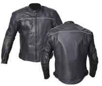 Jaqueta Motociclista Masculina Helt 100% Couro Natural Preta Impermeável C/ Proteções -