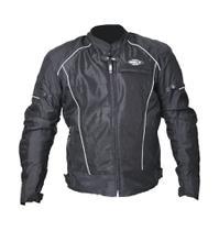Jaqueta Motociclista Masculina Helt Air Free Verão Impermeável C/ Proteções - Preta -