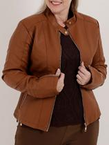 Jaqueta Plus Size Feminina Caramelo - Textil Brasil