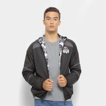 Jaqueta Red Bull Windbreaker Dupla Face Camuflada Skate Generation Masculina -