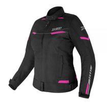 Jaqueta X11 Guard 2  Feminina Preto/Rosa Com Proteções Moto Motociclista (2G) -