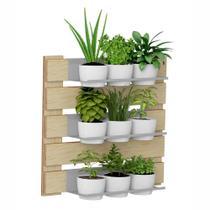 Jardim Vertical  3 Prateleiras para Vasos 60cm 1008 Green BE Mobiliário -