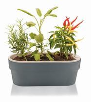 Jardineira Auto Irrigável Hortinha Cor Chumbo - ou
