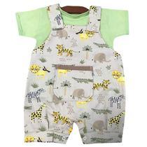 Jardineira com Camiseta Verão Menino Selva Baby - Tieloy