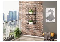 Jardineira Suspensa Decorativa em Ferro com Treliça e Prateleiras - 100x50 - Mobili