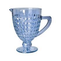 Jarra 1 litro de vidro azul bico de jaca Roman Bon Gourmet - 35442 -