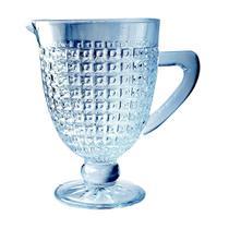 Jarra Chevalier  em vidro com pe 1L cor azul luster - L Hermitage