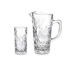 Jarra com copos Pinwheel Studio Crystal  STC7025 -