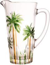 Jarra cristal de chumbo palm tree handpaint 1,2l - Rojemac