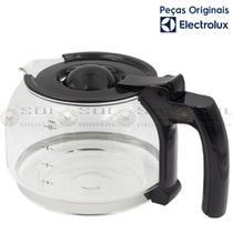 Jarra de Vidro 1,25 L Original para Cafeteira Electrolux CME11 com tampa preta -