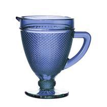 Jarra de Vidro Azul 1L Bico de Jaca para sucos - Mefi
