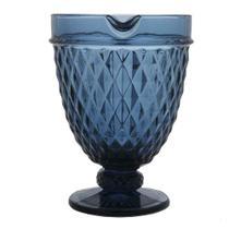 Jarra de Vidro Azul  Bico de Abacaxi 1,1L - Lyor -