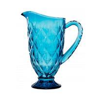 Jarra De Vidro Azul Diamond 1,2 Litros Casa Ambiente -