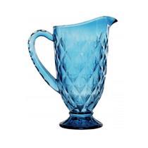 Jarra de vidro bico de abacaxi vermelho 1,1l cristal ecológico - Casambiente -