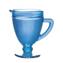 Jarra de vidro  bico de jaca azul 1l - Bon Gourmet