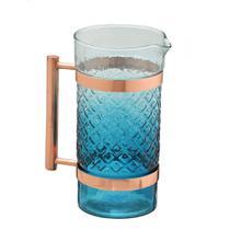 Jarra de Vidro Com Alca Azul 22cm Espressione -