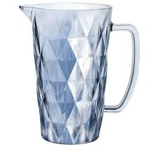 Jarra De Vidro Diamond Azul 1 Litro Lyor -
