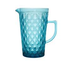 Jarra de Vidro Diamond Azul 1,1L - Bon Gourmet -