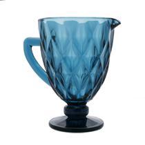 Jarra de Vidro Diamond Azul - Lyor