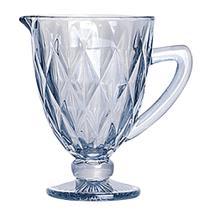 Jarra de vidro Diamond azul metalizado 1,1L - Lyor